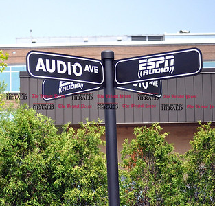 6/1/11 Kayla Adams | Staff ESPN gets decorative for their new studio celebration.
