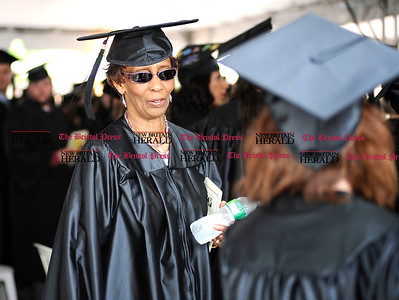 6/1/2011 Mike Orazzi | Staff Tunxis Community College graduate Bertha Burkes,77, during Wednesday night's graduation ceremony.