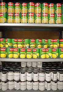 Chris Richie | Staff Canned goods line the shelves at the New Britain Food and Resource Center. (6/1/11)