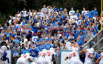 10/1/2011 Mike Orazzi | Staff The CCSU student section at Arute Field in New Britain on Saturday afternoon.