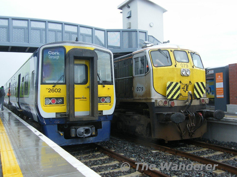 2602 + 2601 and 079 at Midleton. Tues 26.04.11. Picture courtesy of JT42 HCW