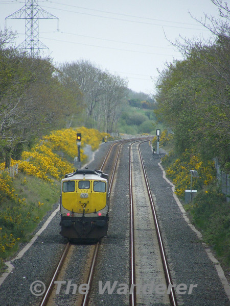 The late running 1240 Cork - Midleton L.E. move is on the double track section on the Midleton Branch. Tues 26.04.11. Picture courtesy of JT42 HCW