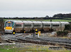 22038 arrives at Portarlington with the  0830 Heuston - Portlaoise. Sat 31.12.11