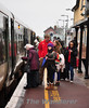 Passengers boarding the 1210 Galway - Limerick at Ennis. Sat 31.12.11