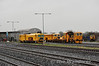 On Track Machines 744, 743 and 704 at Limerick Jct. Sat 31.12.11