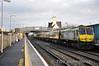 232 1300 Heuston - Cork powers through Kildare Station. Sun 18.12.11