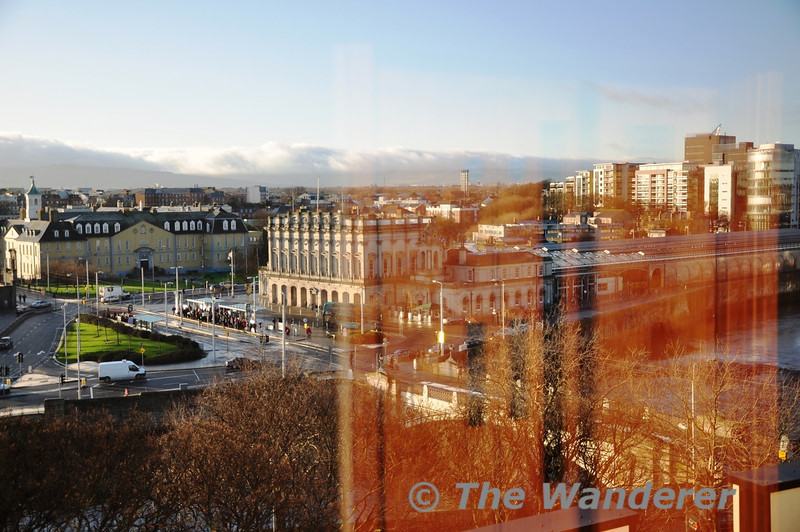 An unusual birds eye view of Heuston Station taken from the 7th floor of the Aisling Hotel. Sat 17..12.11