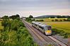 22046 passes Carn Bridge near Portarlington with the 1840 Heuston - Portlaoise. Tues 12.07.11