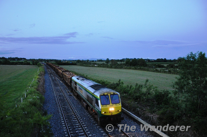 234 passes Cherryville Jct with the 1655 Westport - Waterford Timber. Tues 07.06.11