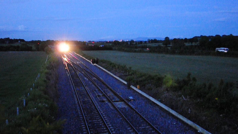 079 departs Cherryville Jct with the 1855 North Wall - Ballyhale Autoballaster. Tues 07.06.11