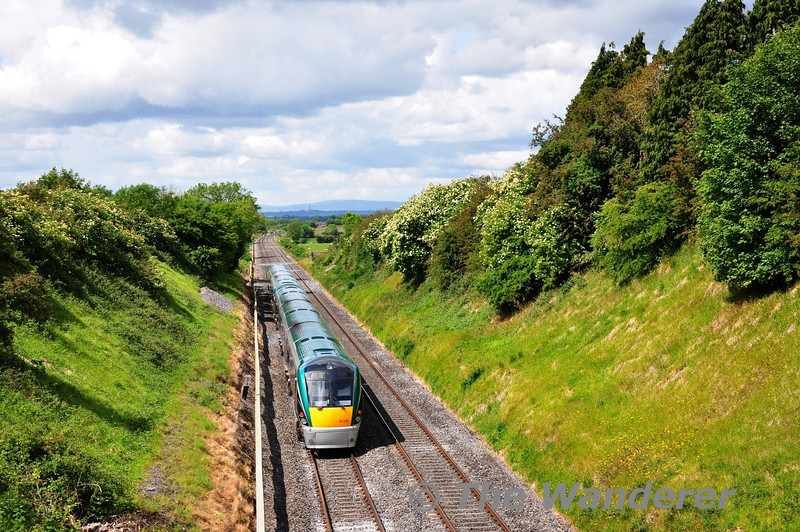 22021 + 22027 are seen near Cherryville with the 1130 Heuston - Galway. Sat 11.06.11