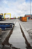 The new railway line into the Common User Container Terminal at Dublin Port. This line will be used by IWT Liner trains to/from Ballina in Co. Mayo. Sat 28.05.11