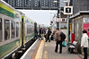 Passengers board the 1730 Cork - Heuston at Thurles. Sun 01.05.11