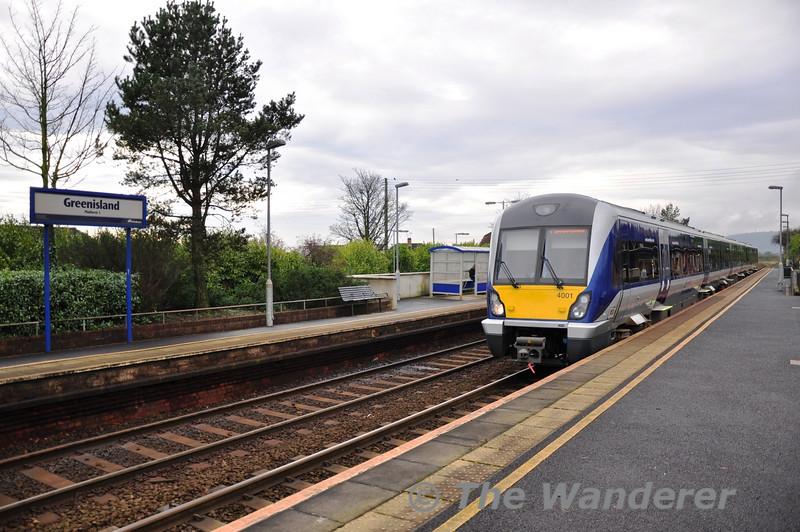 4001 at Greenisland with the 1212 Belfast Central - Carrickfergus. Mon 21.11.11