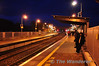 Commuters await their train to Dublin at Portarlington Station. Mon 21.11.11