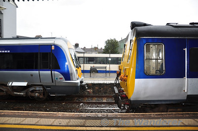 Old and New next to each other at Coleraine. Sun 25.09.11