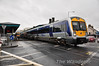 3003 departs from Coleraine Station with the 1243 Belfast Great Victoria Street - Derry. Sun 25.09.11