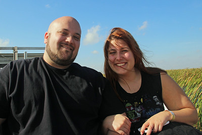 Matt & Danielle on Airboat