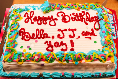 Celebrating Bella's 3rd , Yaz' 11th and JJ's 8th Birthday