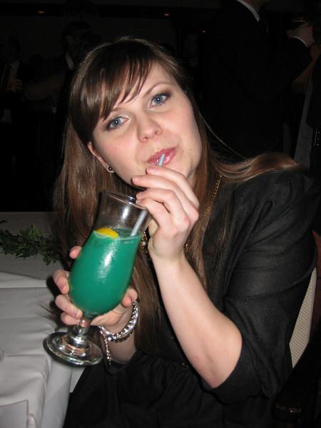 Agnes með heilaskaða kokteilinn