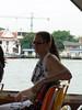 Enjoying the ferry ride
