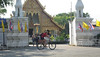 Riding past a Wat, in the Old City