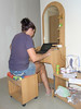 """The """"office"""" in the room at Aussie Guesthouse, Pattaya"""