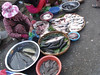 Food for sale at a street market