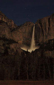 Jumped out of the car on the way into the Valley to capture Yosemite Falls lit my the full moon.