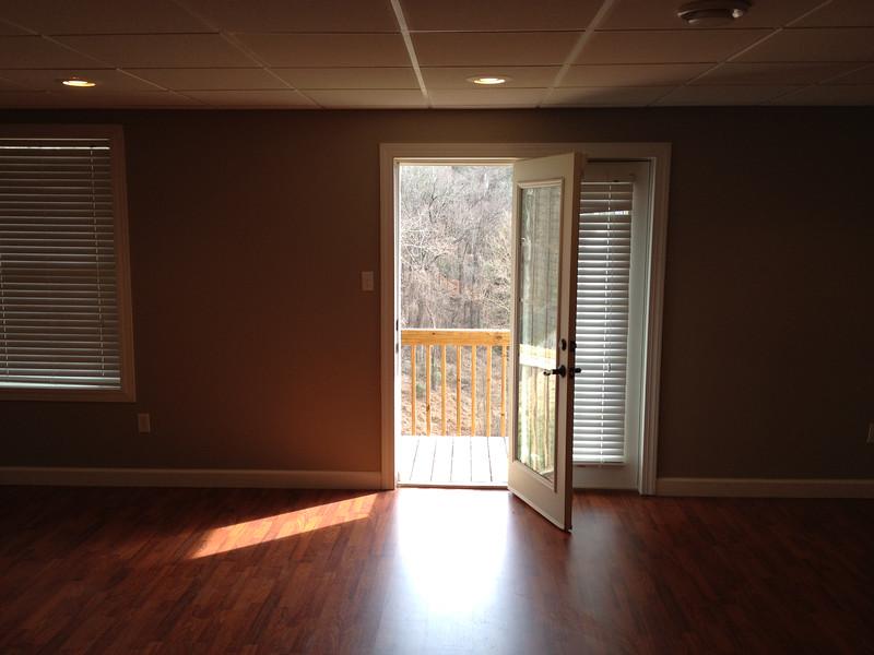 Door from basement to backyard