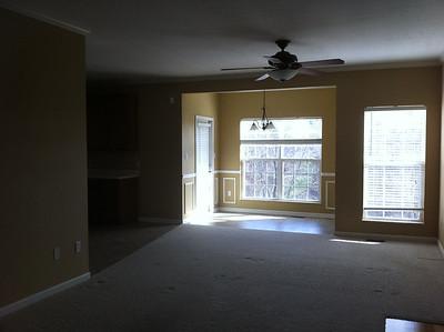 Living room and breakfast nook