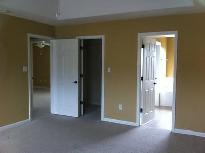 Master BR's walk-in closet and bathroom