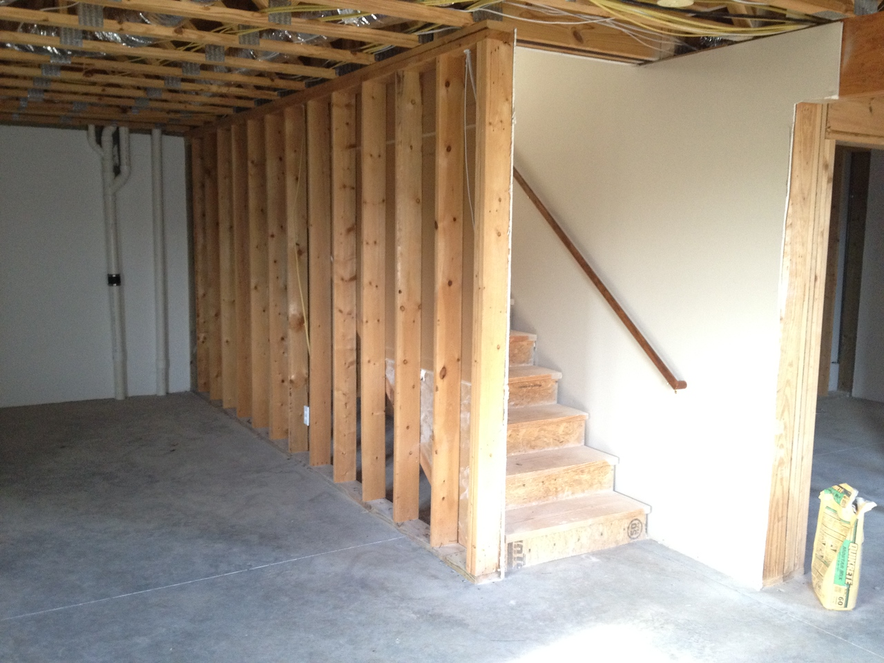 Stairs up from basement