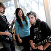 Left to right Forrest Desrochers, Annie Thatcher and Corey Desrochers all are music students at Dawn Boudreau's music studio and will be competeing this Saturday in PG's Got Talent. Citizen photo by Brent Braaten