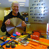 Tony Romeyn, president of IRL Supplies, shows some mining equipment available at the store. Citizen photo by David Mah