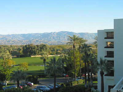 The view out the Palm Desert hotel window