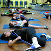 Participants in the Jump Stretch fitness class at Gold's Gym. Citizen photo by David Mah