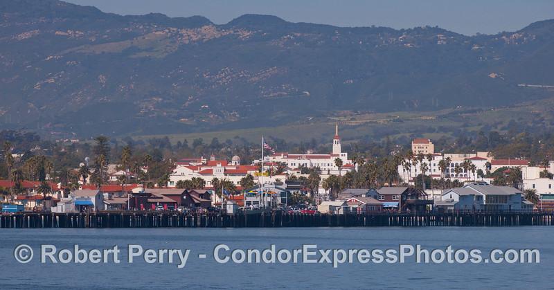 Stern's Wharf and the City of Santa Barbara.