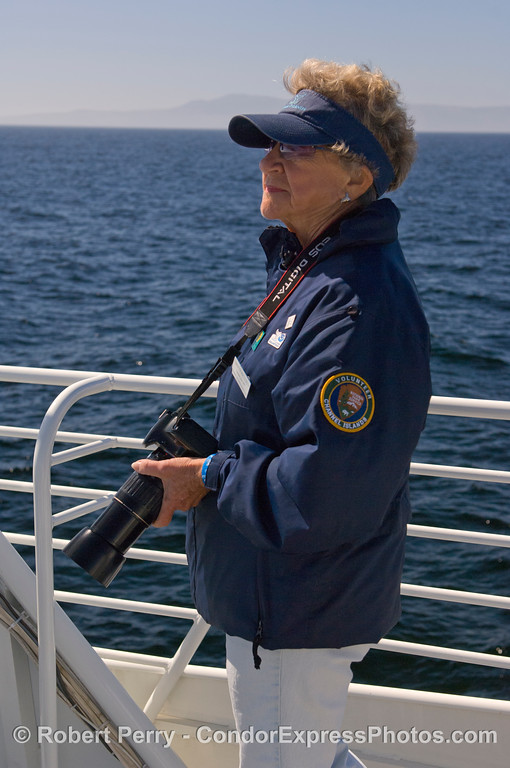 CINC Naturalist Carolyn on Photo Identification duty.