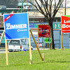 Election signs along Queensway. Citizen photo by Brent Braaten        April 28 2011