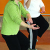 Lois Harle, left, and Jean Cryderman, of the Pathways and Infinity Tai Chi club go through moves. Citizen photo by David Mah May 2 2011