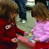 Kayleigh Fidler, 2, left, from London, England, and her cousin Paige Arcand, 2, from Barrier, BC, shared candy they collected at the 83rd annual Elks May Day Parade Saturday. The procession made it's way through downtown Prince George, entertaining hundred of kids and parents. May 16, 2011 Citizen photo by David Mah
