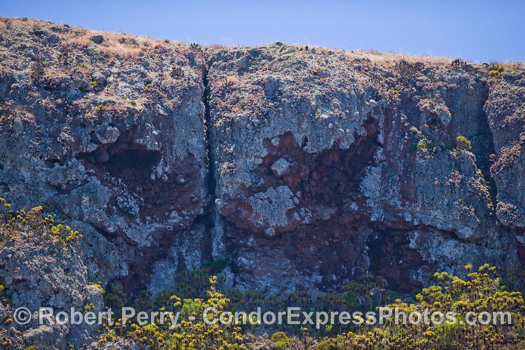 Santa Cruz Island fault line.