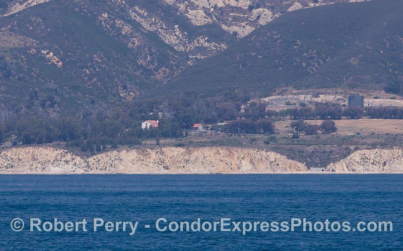 Gaviota Coast - orange rooftops of CIMWI (Channel Islands Marine and Wildlife Institute).