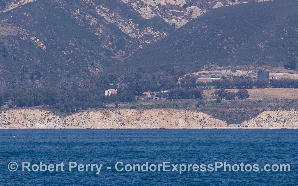Gaviota Coast - orange rooftops of CIMWI (Channel Islands Marine and Wildlife Institute).