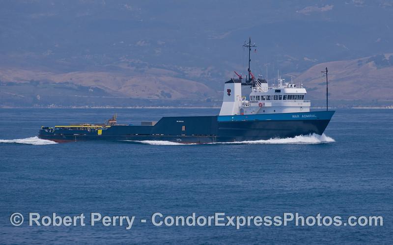 The Tidewater oil platform support vessel War Admiral.