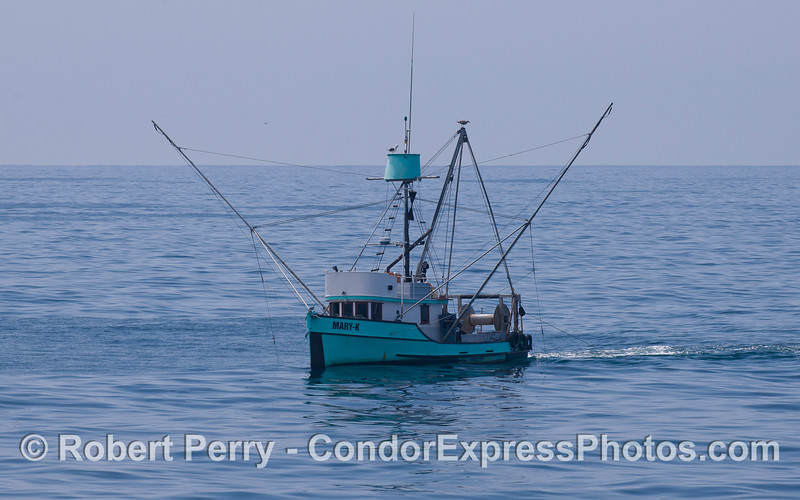 Fishing vessel Mary-K at work.