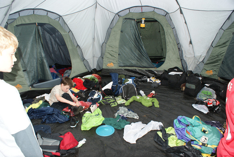 The world's most messy tent!!!!!