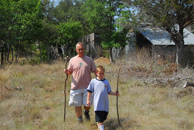Chris and Nathan Gutkowski headed out to hike in Central Texas near Dripping Springs.