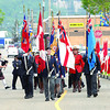 The Roayal Canadian Legion Branch 43 colour guard leads the march to a ceremony in Civic Centrte Plaza unvailing Portraits of Honour. Citizen photo by Brent Braaten     July 13 2011